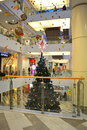 Shopping mall christmas tree decorations picture taken on november th varna city bulgaria Stock Images