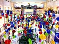 Shopping mall decorations colourful at dlf promenade in new delhi Stock Photography