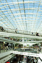 Shopping mall with glass ceiling vasco da gama is a modern building crossed white iron bridges and a huge dom vasco da gama st Stock Photo