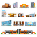 Shopping Mall Icons Set Royalty Free Stock Photo
