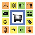 Shopping mall icons set from illustration Royalty Free Stock Photography