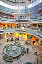 Shopping mall in magdeburg germany Royalty Free Stock Photos