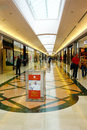 Shopping mall people walking and at aprilia rome italy july Stock Photo