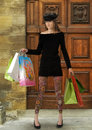 Shopping mania Royalty Free Stock Image