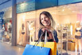 Shopping mania Stock Photography