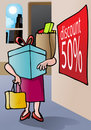 Shopping maniac Stock Images
