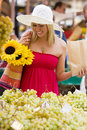 Shopping In The Market Royalty Free Stock Images