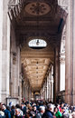Shopping in Milan: Crowded arcade Royalty Free Stock Image