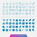 Shopping and money set trendy thin icons for web mobile line full versions Royalty Free Stock Photography