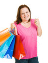 Shopping with Music Royalty Free Stock Image