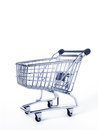 Shopping object metal cart on white background Royalty Free Stock Image