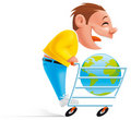 Shopping online Stock Photography