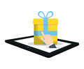 shopping online commerce gift virtual Royalty Free Stock Photo
