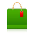 Shopping paper bag on a white Stock Photography