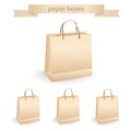 Shopping paper bags vector illustration eco Royalty Free Stock Images