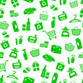 Shopping pattern Stock Photography