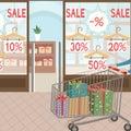 image photo : Shopping and presents. Seasonal sale.