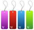 Shopping price tags in 4 colors Stock Images