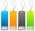 Shopping price tags in 4 colors Stock Photography