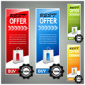 Shopping product banners Royalty Free Stock Images