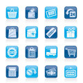 Shopping retail icons vector icon set Stock Photo
