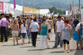 Shopping at the royal welsh show people in Royalty Free Stock Photography