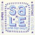 Shopping Sale Back to School Doodles Vector Design Royalty Free Stock Images