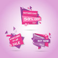 Shopping Sale Happy Mother Day Discount Sticker Set, Spring Holiday Greeting Card Banner Royalty Free Stock Photo