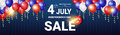 Shopping Sale To United States Independence Day Holiday 4 July Discount Banner
