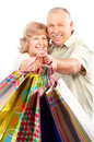 Shopping seniors Stock Photos