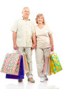 Shopping seniors Royalty Free Stock Images