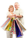 Shopping seniors Royalty Free Stock Image