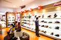 Shopping at shoe store customers a liuzhou china Royalty Free Stock Image