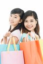 Shopping sisters Royalty Free Stock Images