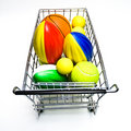 Shopping for Sports Toys Stock Image