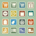 Shopping sticker icons set illustration eps Stock Image