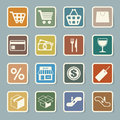 Shopping sticker icons set illustration eps Royalty Free Stock Images