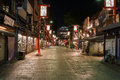Shopping street Asakusa at night Royalty Free Stock Image