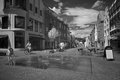 Shopping street in infrared light in nordhorn germany Stock Photo