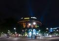 The shopping street Kurfuerstendamm in night illumination Royalty Free Stock Photo