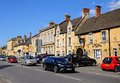 Shopping street moreton in marsh view along the high including the black bear inn cotswolds gloucestershire england uk western Stock Photography