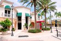 Shopping street retail stores & businesses, FL Royalty Free Stock Photo