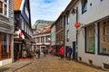 Shopping street in Stavanger Royalty Free Stock Photo