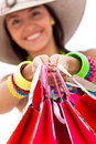 Shopping for the summer Royalty Free Stock Photo