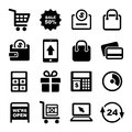 Shopping and Supermarket Services Icons Set Royalty Free Stock Photos