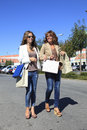 Shopping together young women and her mother Royalty Free Stock Images