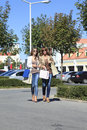 Shopping together young women and her mother Royalty Free Stock Image