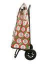 Shopping trolley bag isolated on white background side view Stock Photography