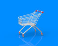 Shopping trolley business d object Stock Image