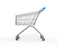 Shopping trolley for business use Royalty Free Stock Photo